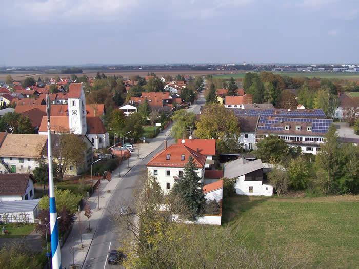 Luftansicht von Ottendichl aus dem Jahr 2007
