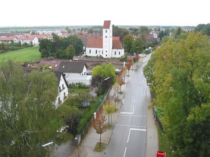 Luftansicht von Ottendichl aus dem Jahr 2012.