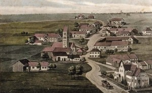 Historisches Bild vom Ottendichler Ortsteil