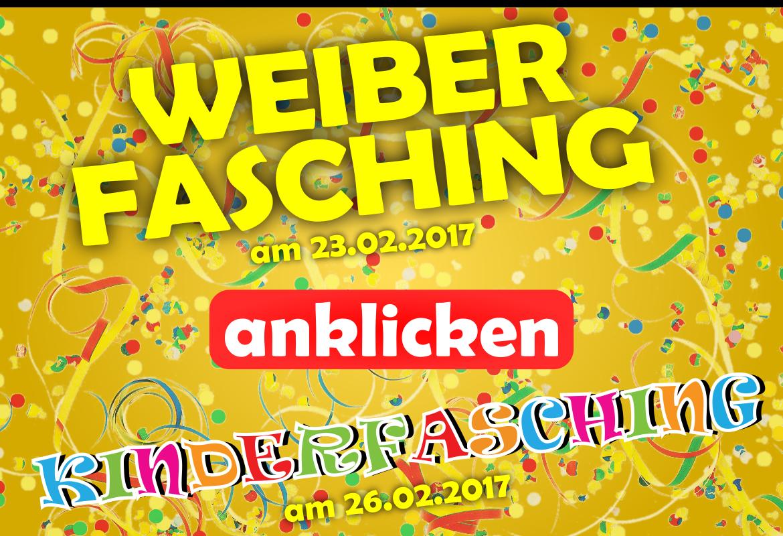 Der Weiberfasching findet am 23.02.2017 und der Kinderfasching am 26.02.2017 in der Bürgerstube der BVO statt.