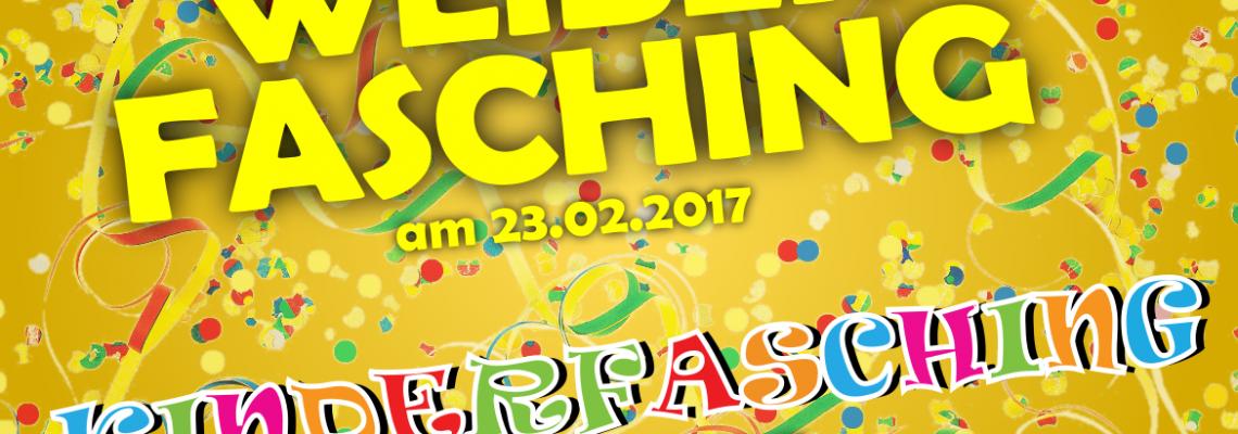 Faschings-Veranstaltungen in der BVO: Weiberfasching am 23.02.2017, Kinderfasching am 26.02.2017 in der Bürgerstube der BVO