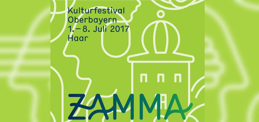 ZAMMA Kulturfestival Oberbayern vom 1. - 8. Juli 2017, Banner